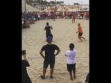 Роналдиньо играет в футволей
