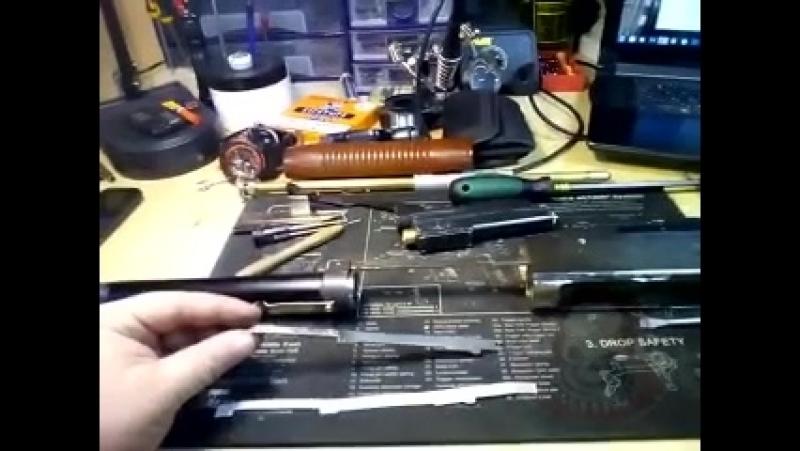 Ремонт тяги затвора на дробовике Marushin m500