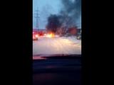 В  Жигулевске автомобиль загорелся прямо возле пожарной части