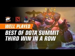 WELL PLAYED   Третья победа на Dota Summit!