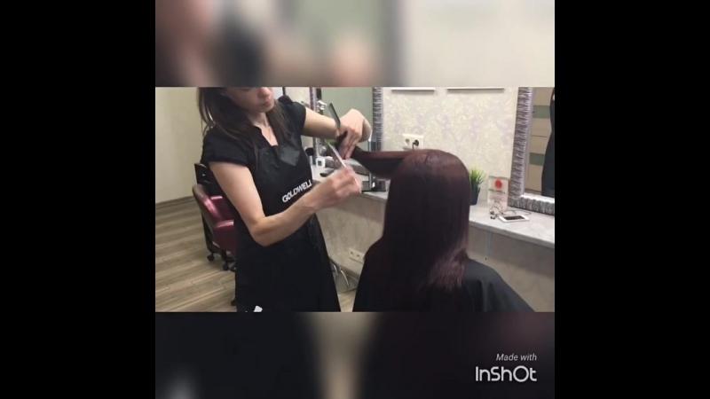 Работа мастера парикмахера Анны Кучиной