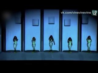 Танец со световыми эффектами