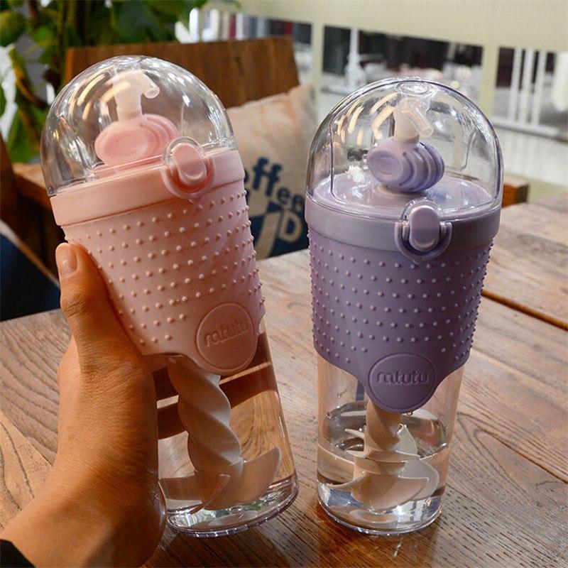 Бутылочка с миксером и соломинкой
