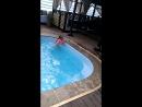 Настенька первые уроки плавания