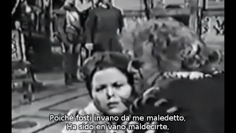 Тито Гобби и Рената Скотто - дуэт Риголетто и Джильды из оп.Дж.Верди РИГОЛЕТТО