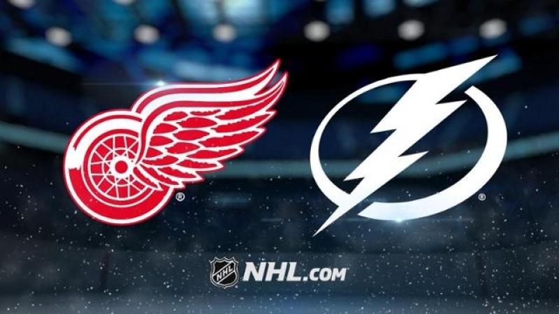НХЛ регулярный чемпионат Тампа Бэй Лайтнинг Детройт Ред Уингз 4 1 2 0 1 1 1 0