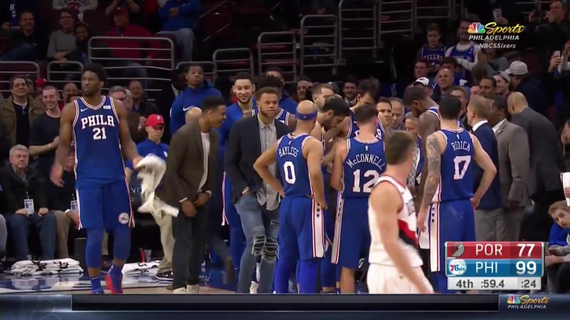 Sixers fans chant _We Want Okafor_ at Wells Fargo Center