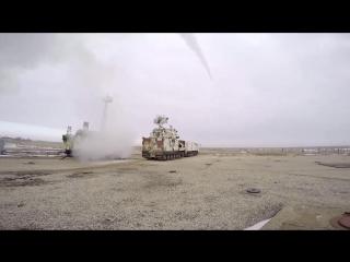 Стрельбы арктических ЗРК «Тор-М2ДТ» на полигоне Капустин Яр (февраль 2018 года)