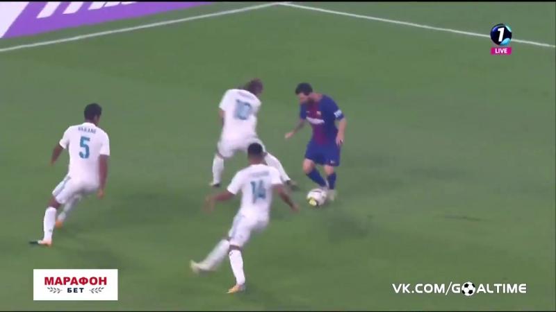 Реал Мадрид Барселона гол Месси Месси забил Реалу Реал Барса Барселона класико Испания Лионель Месси футбол гол