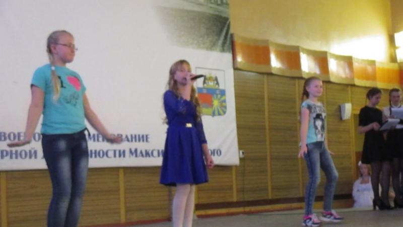 Солнце вокал Ягупова Вероника танцуют Настя Прохаровская и Диана Чернецова