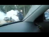 Машина ДПС загорелась во время погони