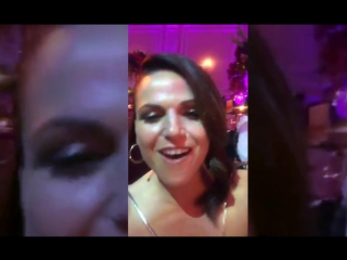 "Lana Parrilla singing along to ""How to Save a Life"""