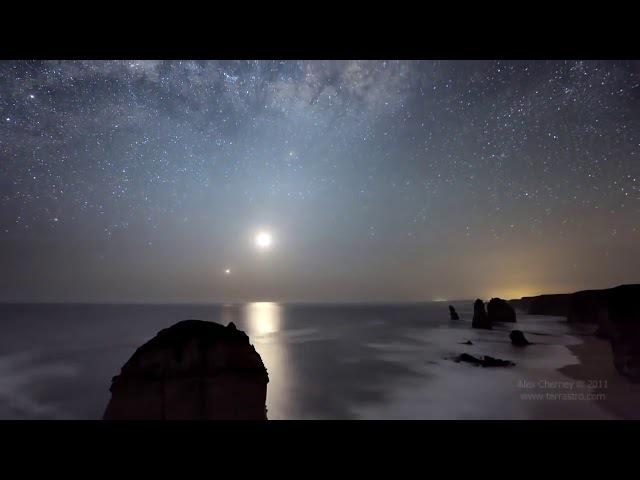 Ocean Sky Австралийское ночное небо Таймлапс