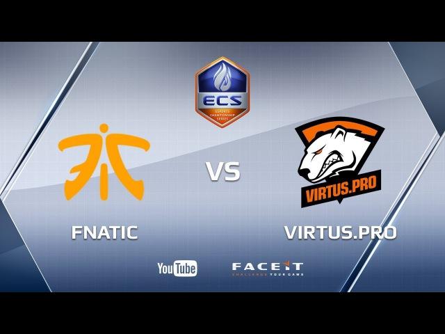 Fnatic vs Virtus.pro, mirage cache, ECS Season 4 Europe
