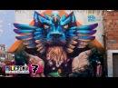 Huge Mystical Lion Mural in Bogotá Policromia Tour EP07
