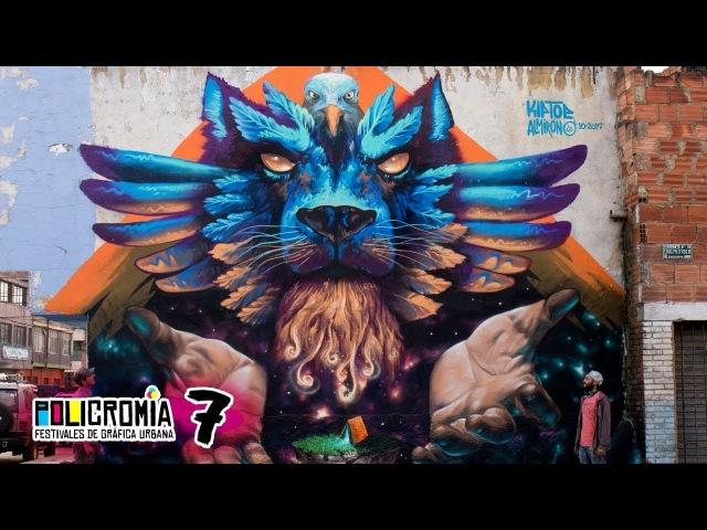 Huge Mystical Lion Mural in Bogotá - Policromia Tour (EP07)