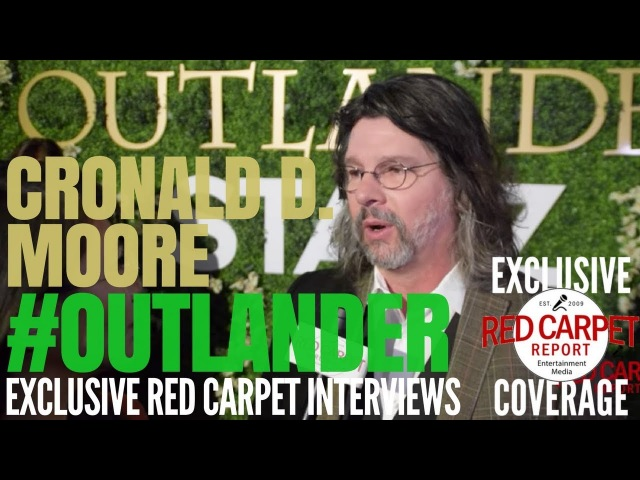 Ronald D. Moore interviewed at Outlander on Starz OutlanderFYC Event in Hollywood