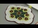 Vida com Arte Tapete com Flores Barlerias em Crochê por Maria José 16 de Julho de 2015