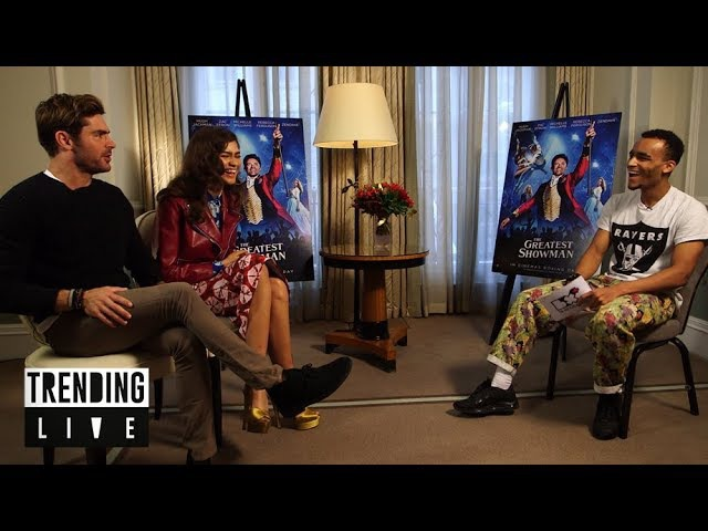 Zac Efron and Zendaya dish all on The Greatest Showman | Trending Live