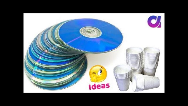 Best use of waste disposal tea Glass CD DIY Home Decor Artkala 398