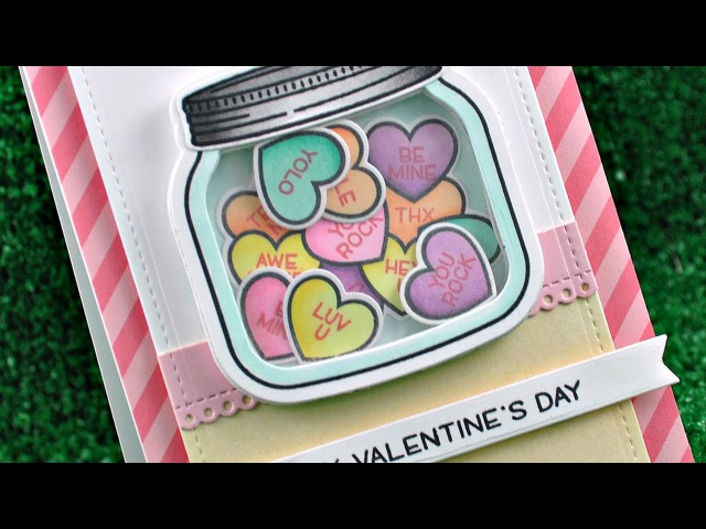 Intro to How You Bean? Conversation Heart Add-On a card from start to finish