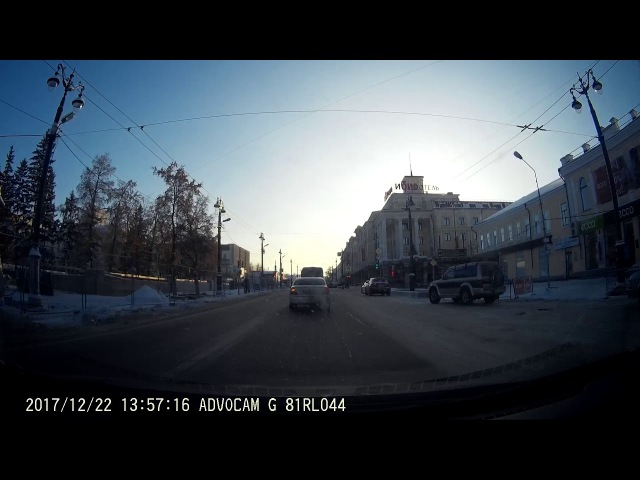Момент аварии на перекрестке Ленина - Броз-тито