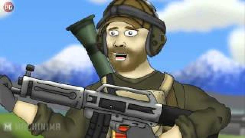 Battlefield Friends / Друзья по Battlefield: USAS-12Фраги (1 сезон 3 серия) [РУС] HD