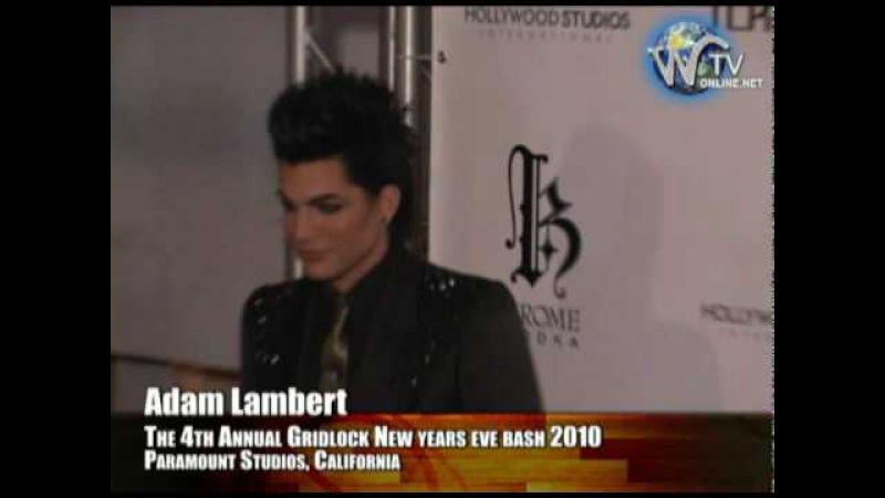 Adam Lambert (American Idol) Arrives at Gridlock 2010 New Years eve bash @ Paramount Studios