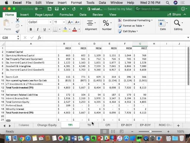 Feb 28 PVH Valuation Model 1