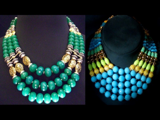 Traditional Beaded Long Necklace Designs 2018
