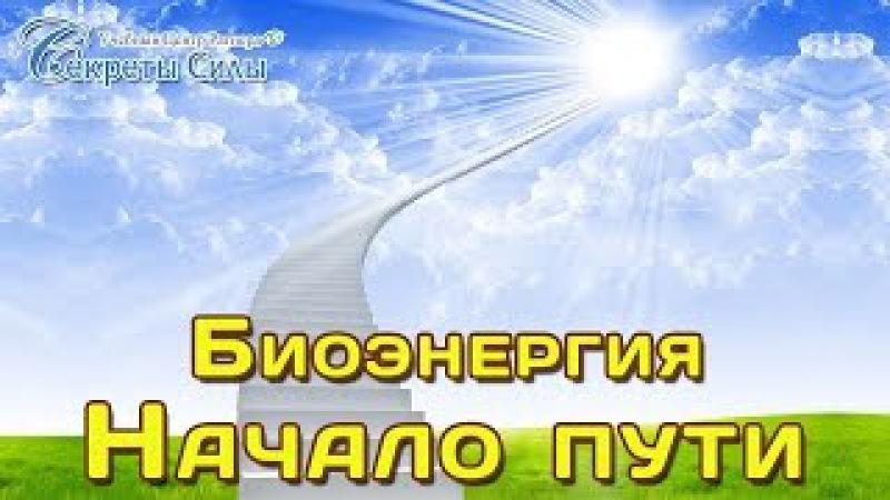 Биоэнергия - Начало пути. Бесплатный вебинар биоэнергетика Сергея Ратнера.