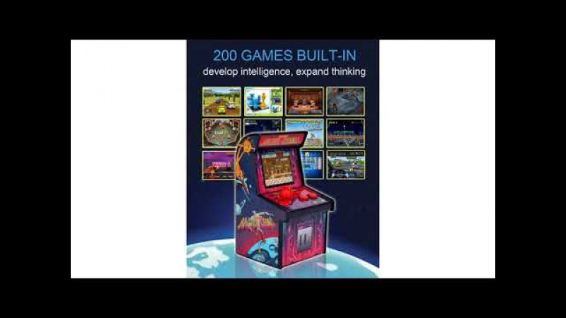 Retro Mini Arcade Game Machines for Kids with 200 Classic Handheld Video Games Home Tra...