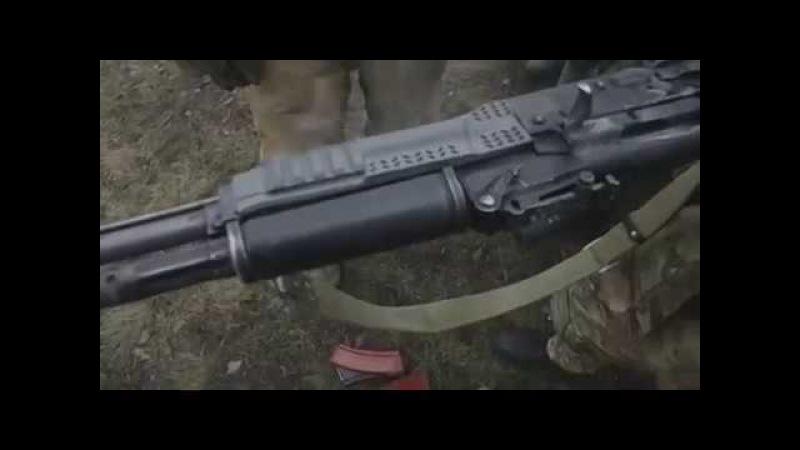 Испытания тактического цевья на АК-74М