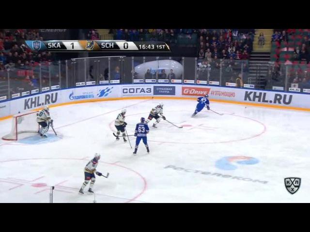 Моменты из матчей КХЛ сезона 16/17 • Гол. 2:0. Вадим Шипачёв (СКА) удвоил разрыв в счёте 16.02
