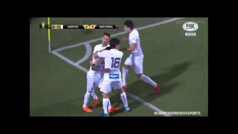 Gol de Rodrygo Santos 3 x 1 Nacional Taça Libertadores da América 2018