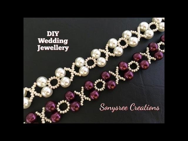 XOXO Beaded Bracelet Wedding Jewelry in 10 Minutes 👍🏻👰🏻 DIY