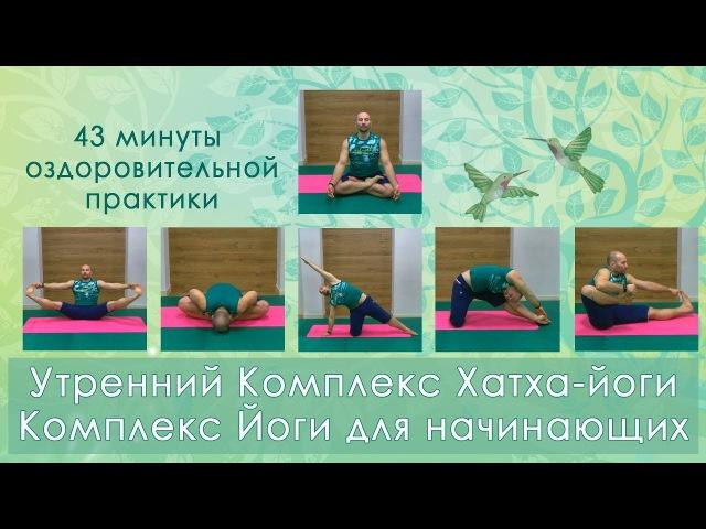 Утренний Комплекс Хатха-йоги 43 минуты, Комплекс Йоги для начинающих, оздоровительная практика