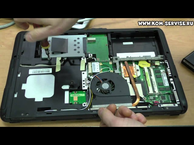 Инструкция по замене памяти и жесткого диска на ноутбуке ASUS K50