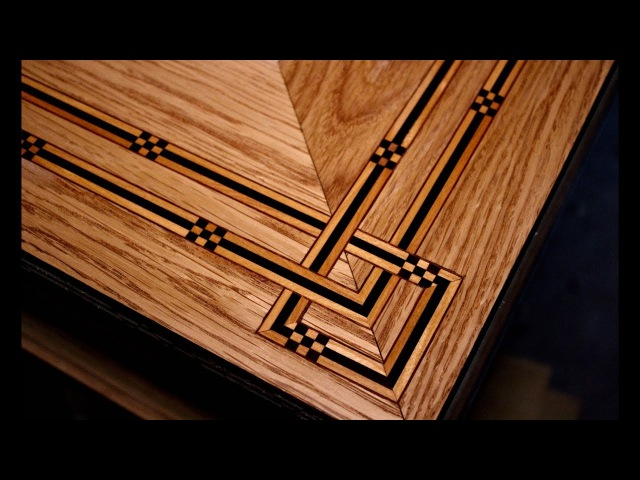 How To Inlay A Table Top (Coffee Table Part 4) - SE Woodwork