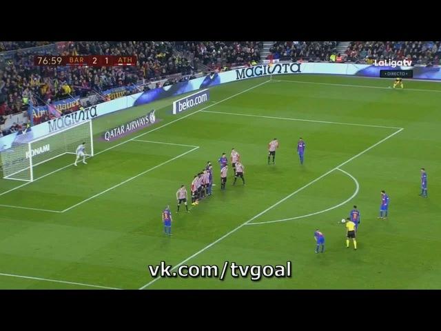 Барселона 3 1 Атлетик Месси