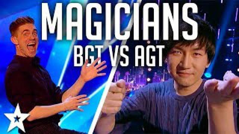 Top 10 BEST Magicians 2017 | AGT vs BGT on Got Talent Global