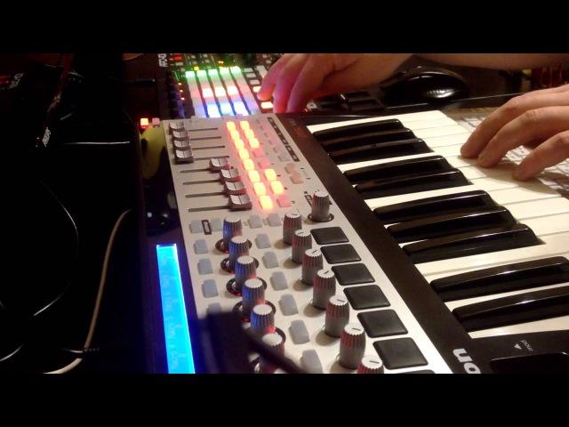 Deep Active Sound - Playing in Studio (live video) Akai APC40 MK2, Novation 25SL MKII
