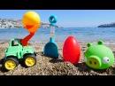 Грузовички и игрушки на пляже #ВидеоДляДетей
