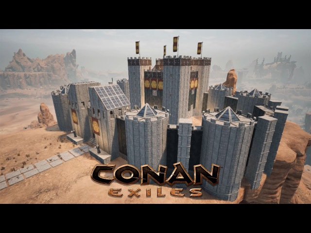 Conan Exiles - Building the White Keep (Speed Build)