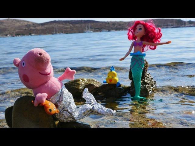 Peppa Wutz und Ariel die Meerjungfrau - Spielspaß am Meer