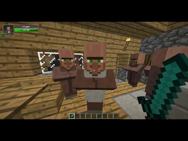 Minecraft №3 Обзор мода Damage Indicators 1 6 4