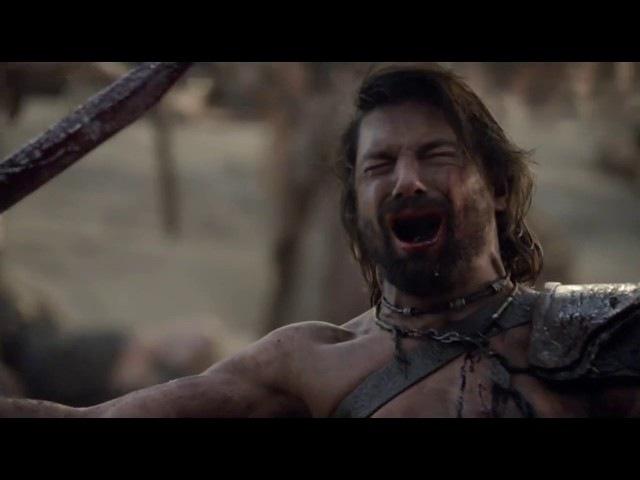 Сериал Спартак. Смерть Крикса. Нэвию и Агрона берут в плен