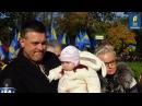 Олег Тягнибок з онукою Юстинкою Марш Слави УПА Покрова Київ 14 жовтня 2016