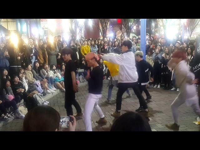 [댄스팀 맥스 MAXXAM] Abracadabra 커버안무 홍대댄스버스킹 20170407금 [Korean Hongdae Kpop Street Dance Busking]