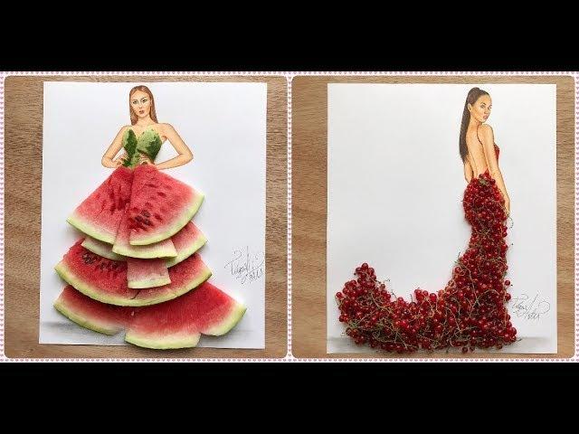 TOP 50 100 Amazing Dress Fashion illustration by Edgar Artis